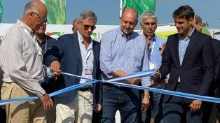 Omar Perotti inauguró ExpoAgro con críticas al cese de comercialización agropecuario