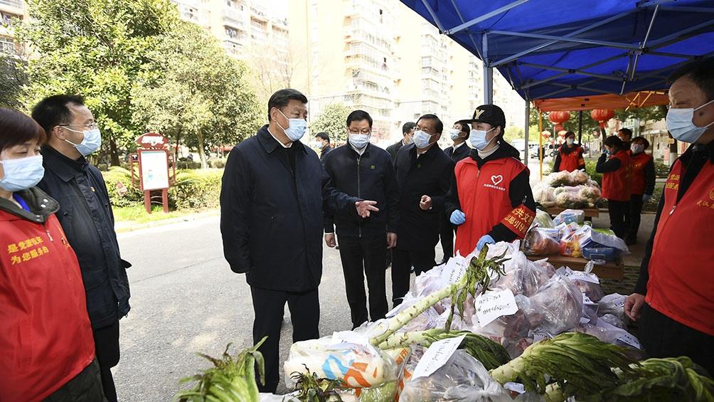 Xi Jinping visitó la ciudad de Wuhan durante la pandemia