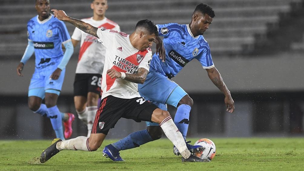 En el partido jugado en marzo en Buenos Aires, River aplastó a Binacional por 8 a 0.