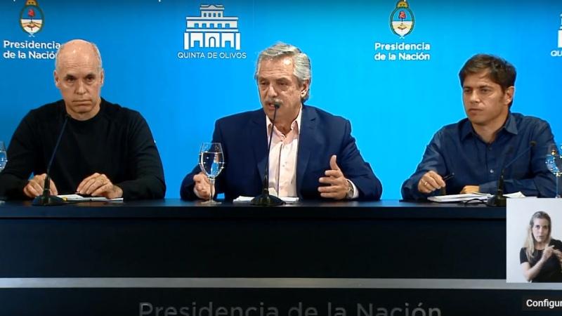 """Fernández destacó trabajo """"codo a codo"""" con Rodríguez Larreta y Kicillof - Télam - Agencia Nacional de Noticias"""