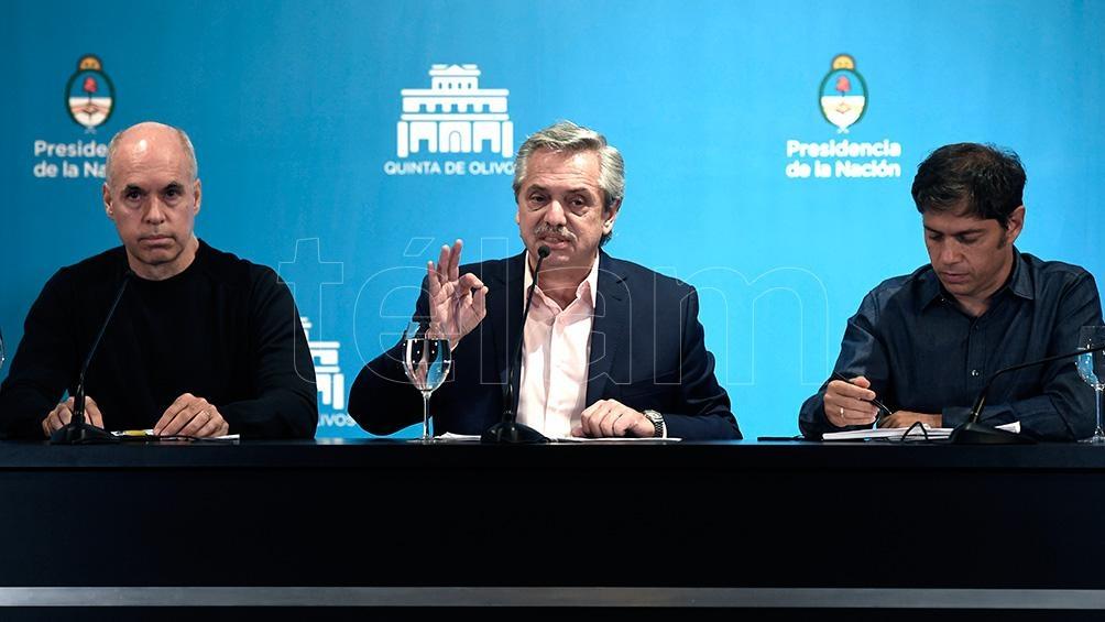 Una reunión distendida de Alberto Fernández y Horacio Rodrǵuez Larreta, de hace algunos meses.