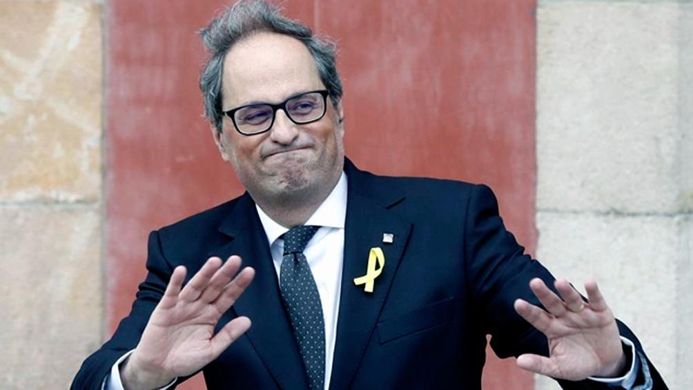 """Torra pidió a los ciudadanos catalanes que """"sigan las recomendaciones"""" del Gobierno."""