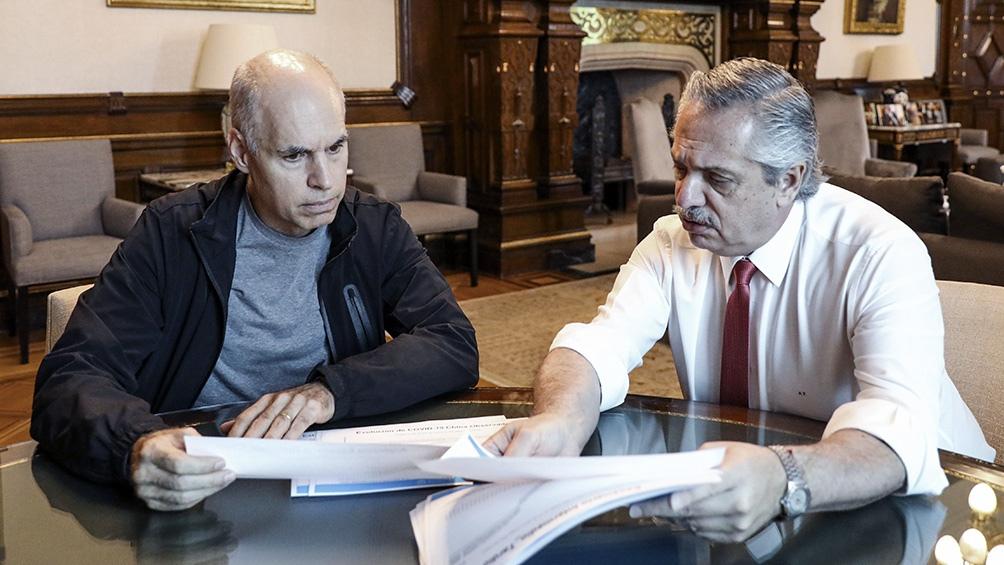 """Fernández, tras reunirse con Larreta: """"En la adversidad, estamos más unidos  que nunca"""" - Télam - Agencia Nacional de Noticias"""