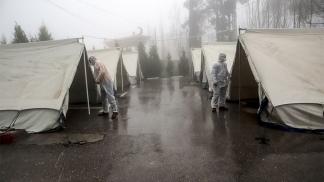 Un campamento de refugiados en Cisjordania.