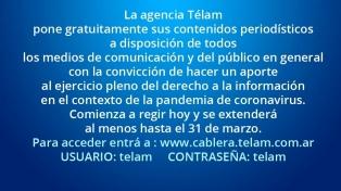 La agencia Télam pone gratuitamente sus contenidos a disposición de los medios y el público