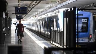 Estación Once de Septiembre, final del recorrido del ramal que parte de Moreno