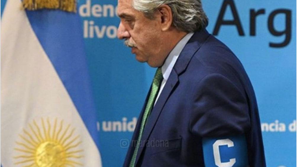 Maradona apoyó a Alberto Fernández: