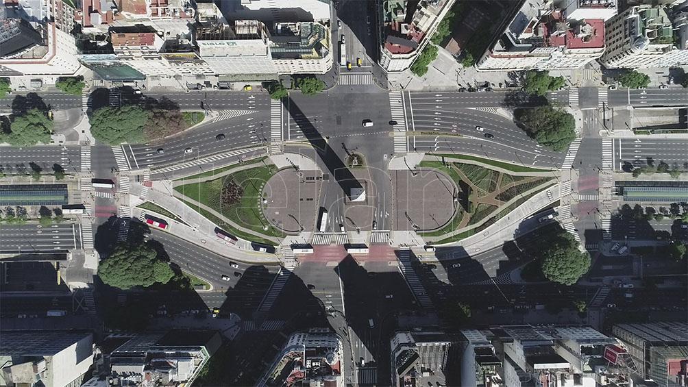 Buenos Aires vacía: las fotos aéreas del primer día de aislamiento