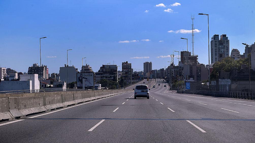 Pocas demoras en los accesos a la ciudad de Buenos Aires