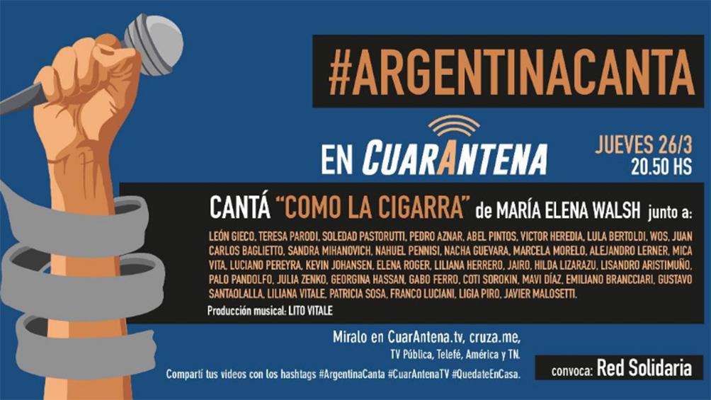 Más de 35 artistas entonarán la misma canción para unir a los argentinos