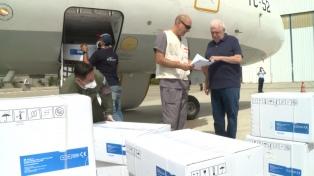 Recibieron 90 toneladas de suministros médicos de la ONU para enfrentar el coronavirus