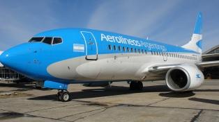 Aerolíneas Argentinas programó nueve vuelos especiales