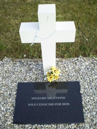 Una de las tumbas sin nombre.