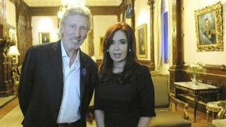 Waters, cuando fue recibido por la presidenta Cristina Kirchner en Buenos Aires.