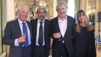 Premiados en Londres:Cardozo, Aro, Waters y Cociffi.