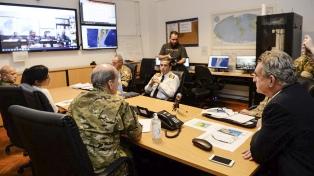 Rossi supervisó por videoconferencia el trabajo del personal militar durante la pandemia