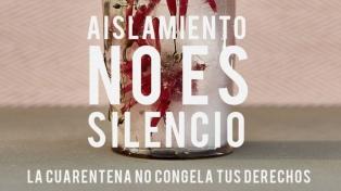 #AislamientoNoEsSilencio: directoras concientizan sobre la violencia de género