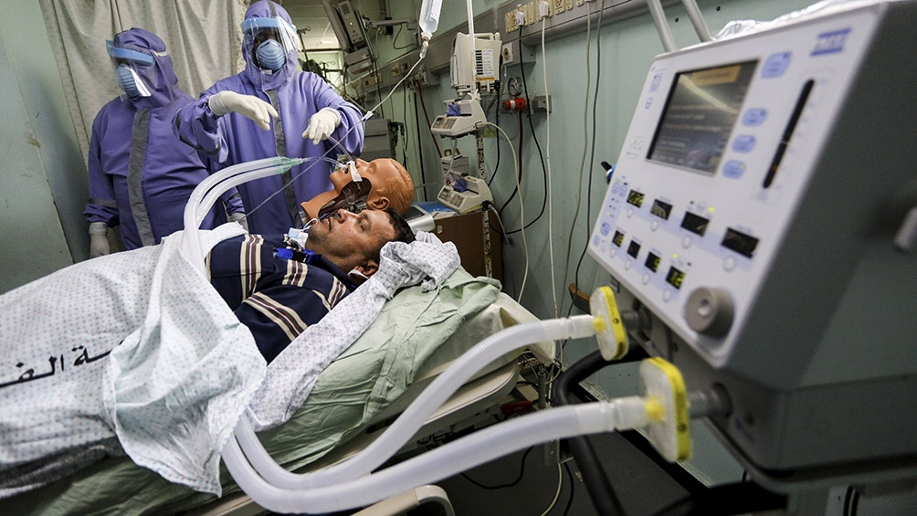 Gaza contabilizó unos 54.460 contagios desde el comienzo de la pandemia, con 545 muertes.