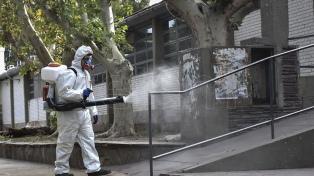 Municipios realizan operativos de desinfección de calles y vehículos