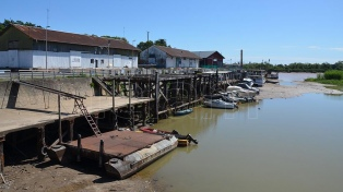 La bajante histórica del río Paraná