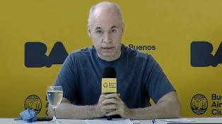 "Rodríguez Larreta respaldó la oferta y destacó el ""objetivo de evitar el default"""