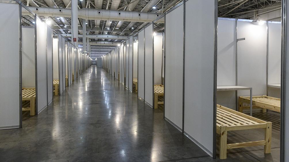 Tecnópolis tiene 350 camas operativas y posibilidad de llegar a las 2000 según las necesidades.