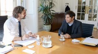 Con la mirada en el plan de recuperación, Cafiero recibe a Kicillof en la Casa Rosada