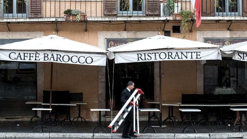 Advierten que podrían cerrar 50.000 bares y restaurantes en Italia por la crisis