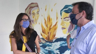 Gómez Alcorta visitó la Casa de la Mujer y dialogó con víctimas de violencia de género
