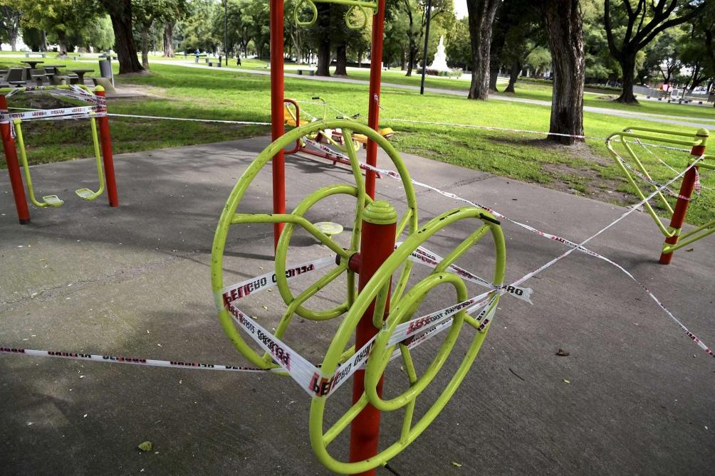 Una posta aeróbica, sin actividad física. Foto: Raúl Ferrari. (Télam)