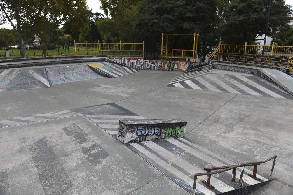 Una de las pistas para los amantes del skate. Foto: Maxi Luna. (Télam)