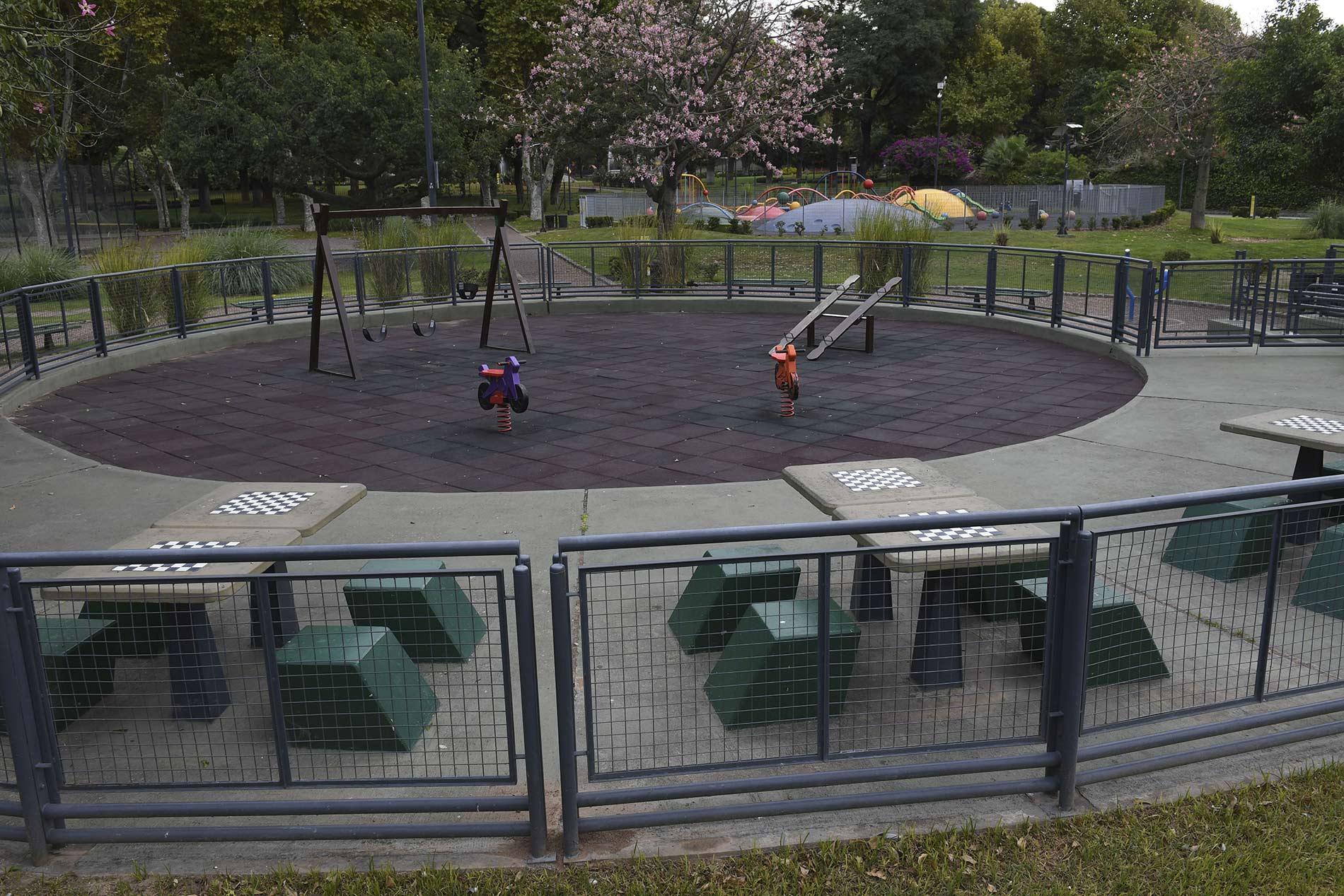 Parques y plazas vacías durante el aislamiento