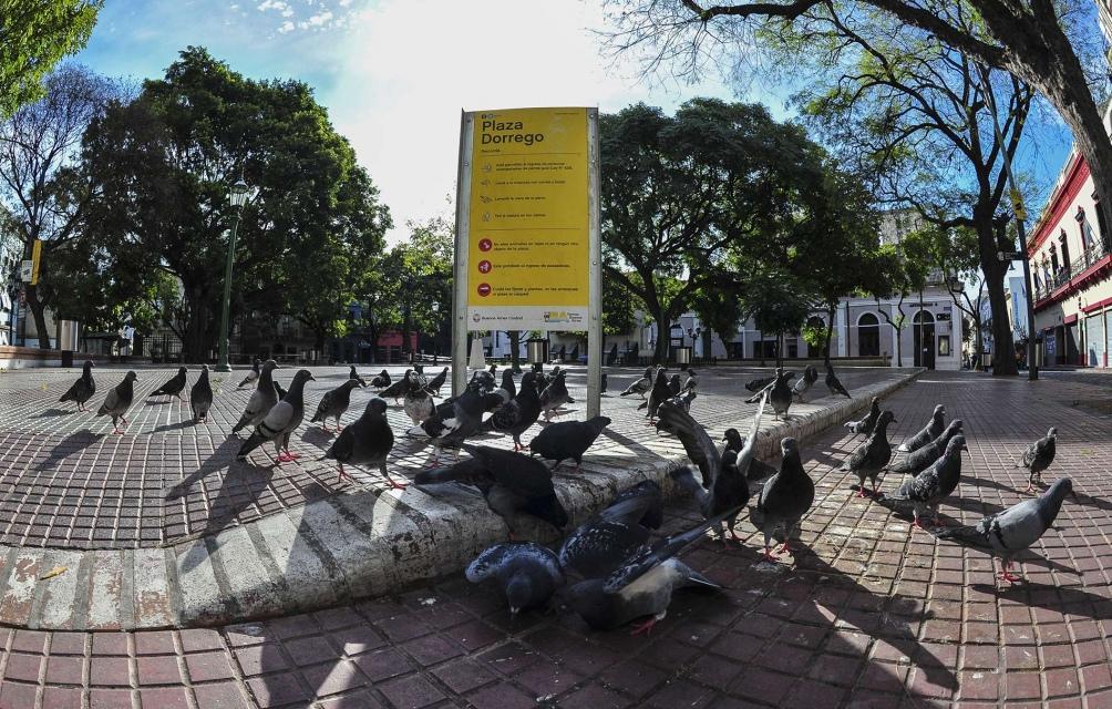 Plaza Dorrego. Foto: Alejandro Amdan.(Télam)