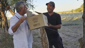 Ricardo Periga, director de la escuela del paraje de Árbol Solo, en La Pampa.