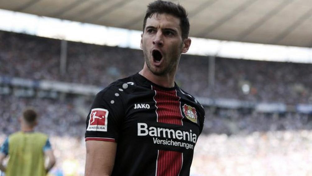 Lucas Alario, uno de los argentinos que disputan la Bundesliga con el Bayer Leverkusen (foto Archivo)