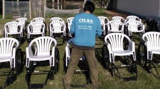 Una ONG dona más de 200 sillas de ruedas a hospitales bonaerenses, porteños y santafesinos