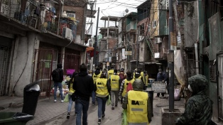 Las Fuerzas Armadas construyen un centro de aislamiento para el Barrio 31, anunció Rossi