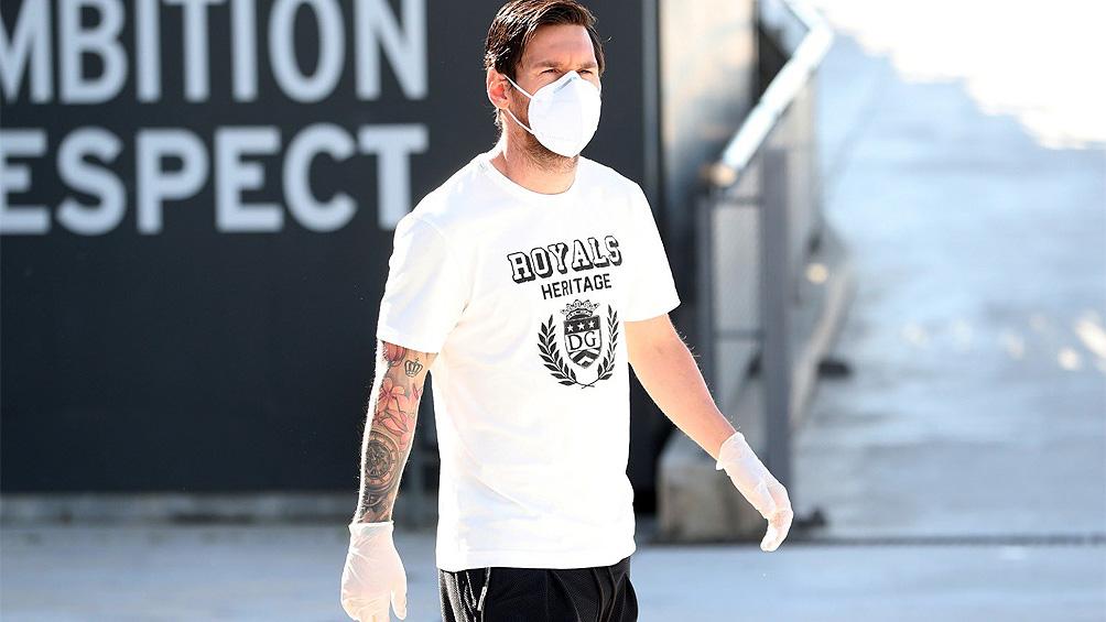 Messi volvió a la Ciudad Deportiva luego de 55 días y se sometió al test de coronavirus