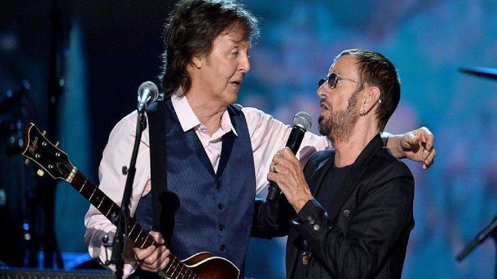 Ringo festejó con el recuerdo de algunos shows en vivo, en especial uno con Paul McCartney