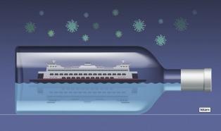 El turismo de cruceros seguirá paralizado al menos hasta agosto, según las principales líneas
