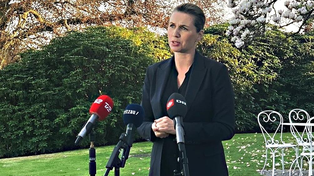 """La primera ministra Frederiksen aseguró que el aumento de casos """"es preocupante""""."""