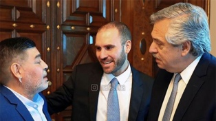 Maradona respaldó a Fernández y a Guzmán en la reestructuración de la deuda