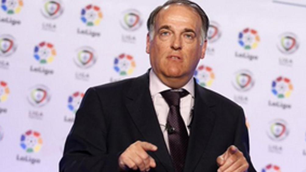 El presidente de LaLiga niega que una eventual salida de Messi afecte ingresos de TV