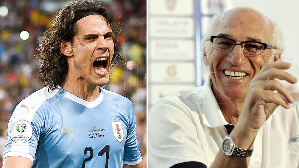 Cavani le preguntó a Bianchi sobre sus sentimientos al ser campeón con Boca