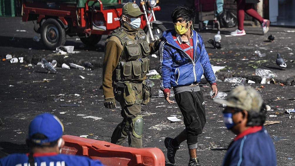 Ayer hubo protestas en Santiago por sexto viernes consecutivo.