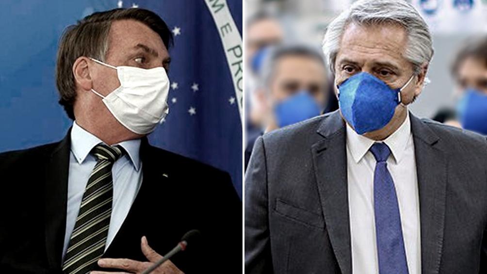 Alberto Fernández mantendrá este lunes una videoconferencia con Bolsonaro