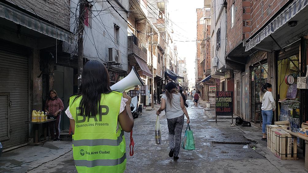 Comienza el operativo Detectar que busca casos de coronavirus en el barrio porteño de Balvanera