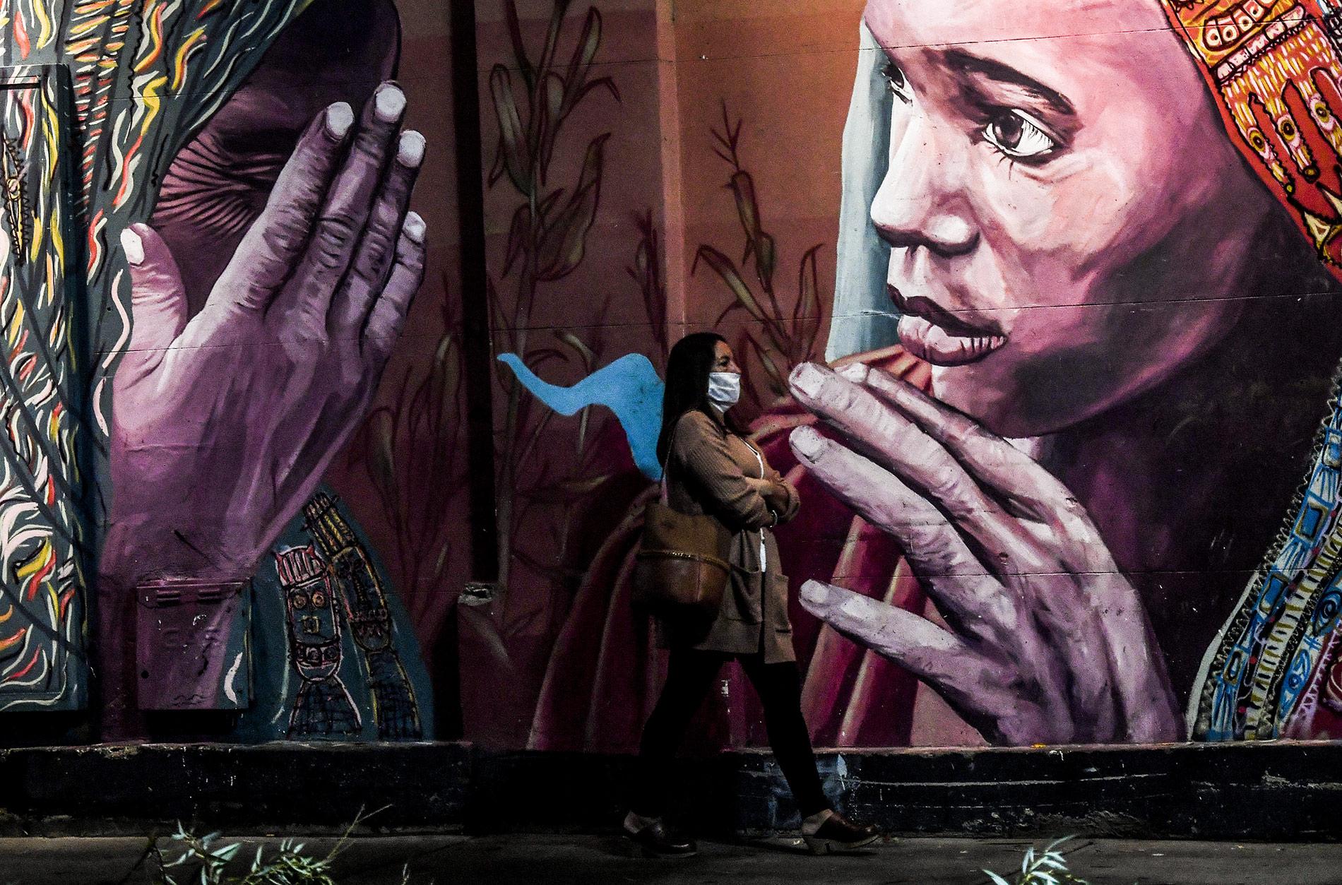 Los grafitis en las escenas de la vida cotidiana en cuarentena