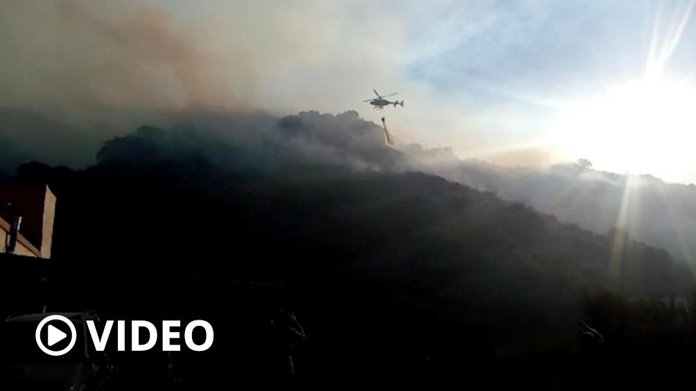 Con ayuda de la Nación controlan una línea de fuego activo en las Sierras Centrales de San Luis