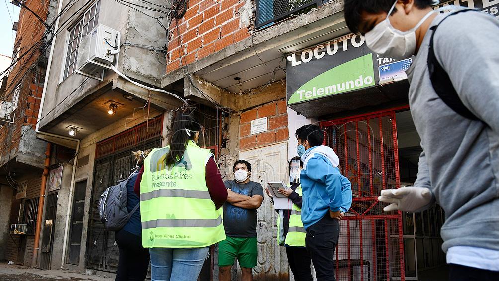 Barrios vulnerables porteños: dos muertos y 173 nuevos casos